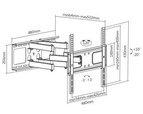 zglobni nosac za tv, montaza televizora na zid, mlt-sistem.rs